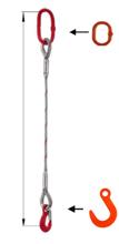 DOSTAWA GRATIS! 33948343 Zawiesie linowe jednocięgnowe miproSling FW 14,00 (długość liny: 1m, udźwig: 14 T, średnica liny: 36 mm, wymiary ogniwa: 275x150 mm)