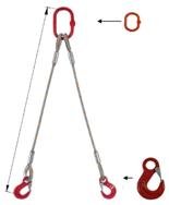 DOSTAWA GRATIS! 33948368 Zawiesie linowe dwucięgnowe miproSling HE 23,5/17,0 (długość liny: 1m, udźwig: 17-23,5 T, średnica liny: 40 mm, wymiary ogniwa: 340x180 mm)