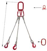DOSTAWA GRATIS! 33948441 Zawiesie linowe trzycięgnowe miproSling T 52,0/37,0 (długość liny: 1m, udźwig: 37-52 T, średnica liny: 48 mm, wymiary ogniwa: 400x200 mm)