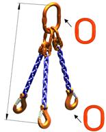 DOSTAWA GRATIS! 33971864 Zawiesie łańcuchowe trzycięgnowe klasy 10 miproSling A8W 56,0/40,0 (długość łańcucha: 1m, udźwig: 40-56 T, średnica łańcucha: 26 mm, wymiary ogniwa: 400x200 mm)