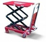 DOSTAWA GRATIS! 62666893 Wózek platformowy nożycowy (udźwig: 150 kg, wymiary platformy: 700x450 mm, wysokość podnoszenia min/max: 280-1150 mm)