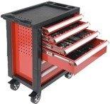 DOSTAWA GRATIS! 65669921 Wózek, szafka serwisowa z narzędziami, 6 szuflad, 177 narzędzia (wymiary: 97,5x76,5x46,5 cm)
