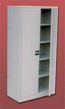 DOSTAWA GRATIS! 77157075 Szafa biurowa ekonomiczna, 2 drzwi, 4 półki regulowane (wymiary: 2000x800x440 mm)