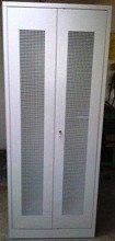 DOSTAWA GRATIS! 77157109 Szafa biurowa, 2 drzwi perforowane, 4 przestawiane półki (wymiary: 2000x800x500 mm)