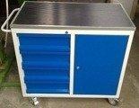 DOSTAWA GRATIS! 77157359 Wózek narzędziowy, 4 szuflady, 1 szafka (wymiary: 1200x600x900 mm)