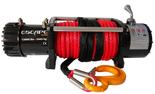 DOSTAWA GRATIS! 81874364 Wyciągarka Escape 12000 lbs 12,0 X [5443kg] z liną syntetyczną czerwoną 24V (średnica liny: 8mm, długość liny: 25m)
