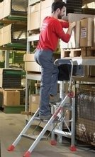 DOSTAWA GRATIS! 99675073 Drabina magazynowa / schody magazynowe FARAONE (wysokość robocza: 2,30m)