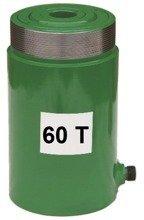 Siłownik przelotowy z samoczynnym powrotem (wysokość podnoszenia min/max: 284-384mm, udźwig: 60T) 62754010
