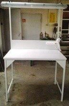Stół montażowy + tablica z listwą zasilającą i oświetleniem (wymiary: 1200x700x960/2000 mm) 77156988