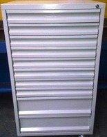 Szafa narzędziowa, 10 szuflad (wymiary: 1250x600x600 mm) 77157246