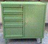 Szafa narzędziowa, 4 szuflady, 1 szafka z półką regulowaną (wymiary: 900x800x460 mm) 77157225