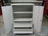Szafka narzędziowa, 2 szuflady i 2 półki (wymiary: 1250x800x500 mm) 77157200