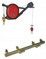 Wciągarka elektryczna linowa budowlana + Uchwyt do wciągarki linowej + lina 30m + sterowanie ręczne 1,5m (udźwig: 325 kg) 08172278