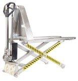 Wózek paletowy podnośnikowy Inox (udźwig: 1000 kg, długość wideł: 1190mm, wysokość podnoszenia: 85-800mm) 31072165