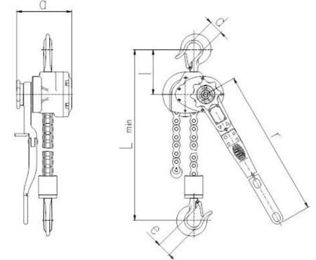 DOSTAWA GRATIS! 2202564 Wciągnik dźwigniowy z łańcuchem sworzniowym RZV/3.2t (wysokość podnoszenia: 1,5m, udźwig: 3,2 T)