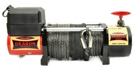 55972505 Wyciągarka samochodowa Dragon Winch Maverick DWM 13000 HD S 24V, z liną syntetyczną 30m, hamulec dynamiczny (udźwig: 13000 lb/ 5897 kg, silnik: 6,8KM)