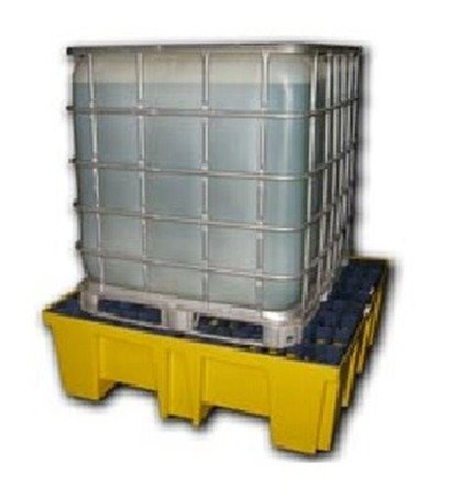Arengo Paleta wanna wychwytowa, wysokoprofilowa, składowanie 4 beczki 200L lub pojemnik IBC/KTC, 510l (wymiary: 1320x1320x430 mm) 09876008
