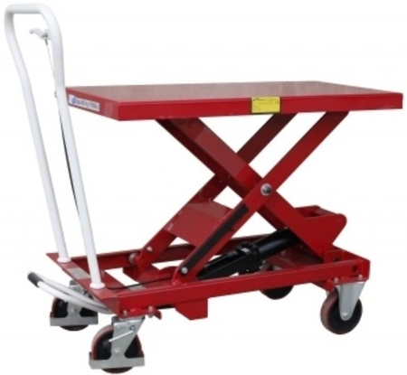 DOSTAWA GRATIS! 0301622 Wózek platformowy nożycowy (udźwig: 500 kg, wymiary platformy: 1010x520 mm, wysokość podnoszenia min/max: 435-1000 mm)