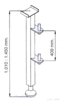 DOSTAWA GRATIS! 08172276 Wciągarka elektryczna linowa budowlana + Niski maszt + Ramie robocze + lina 30m + sterowanie ręczne 1,5m (udźwig: 200 kg)
