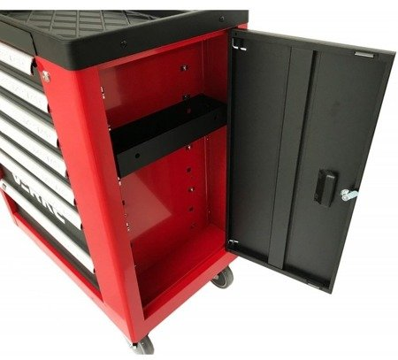 DOSTAWA GRATIS! 16069997 Wózek, szafka narzędziowa, 7+1 szuflad + wkładki (wymiary: 970x840x460 mm)