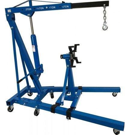 DOSTAWA GRATIS! 1607011 Żuraw warsztatowy z podstawą wózek (udźwig: 2 T)