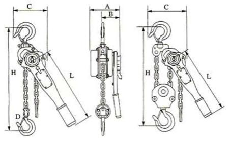 DOSTAWA GRATIS! 22043658 Wciągnik łańcuchowy, rukcug z dźwignią ZKS 1,5 3M (wysokość podnoszenia: 3m, udźwig: 1,5 T)