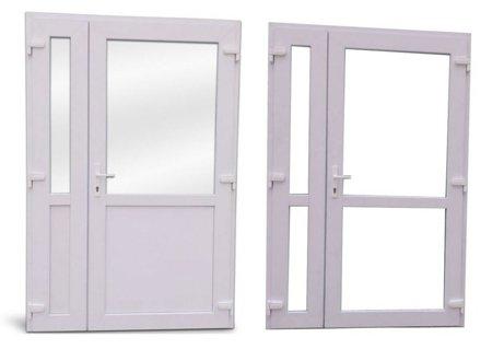 DOSTAWA GRATIS! 26269155 Drzwi zewnętrzne sklepowe (kolor: biały, strona: lewa, szerokość: 125 cm)