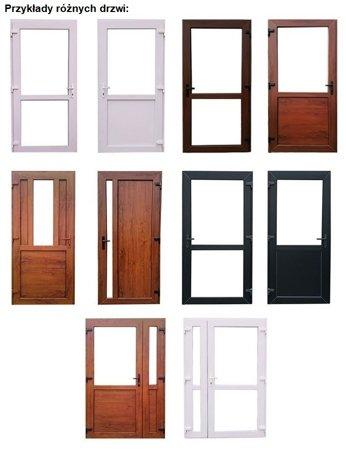 DOSTAWA GRATIS! 26269165 Drzwi zewnętrzne sklepowe (kolor: złoty dąb, strona: lewa, szerokość: 110 cm)
