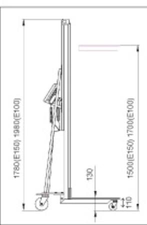 DOSTAWA GRATIS! 310414 Wózek podnośnikowy elektryczny (udźwig: 150 kg)