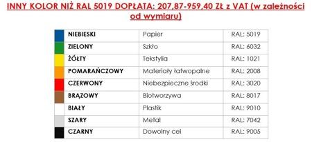DOSTAWA GRATIS! 35960452 Kontener samowyładowczy do wózka widłowego (pojemność: 900 L)