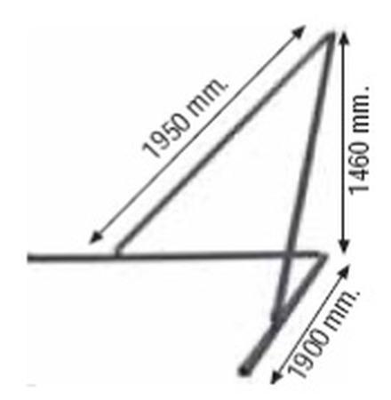 DOSTAWA GRATIS! 37515646 Podpory do masztu długiego 1kpl/2szt (wymiary: 1950mm x 1900mm x 1460mm)
