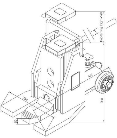 DOSTAWA GRATIS! 49972687 Podnośnik hydrauliczny (nośność: 10T)