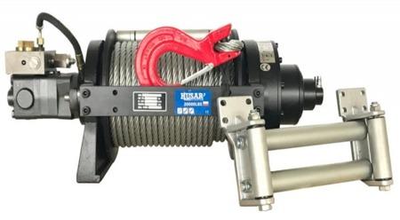 DOSTAWA GRATIS! 51971677 Wyciągarka hydrauliczna Husar z liną stalową (uźwig: 20000 lbs / 9072 kg, długość liny: 48m)
