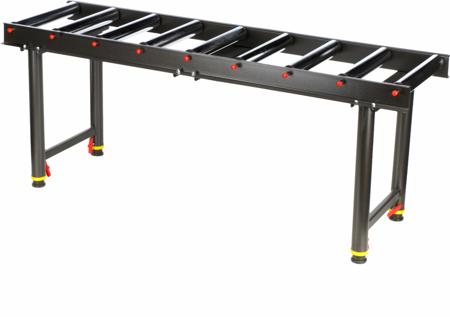 DOSTAWA GRATIS! 55872184 Stojak wsporczy z 9 wałkami (udźwig: 200 kg, długość stołu: 1650mm, wysokość: 665-1140 mm)