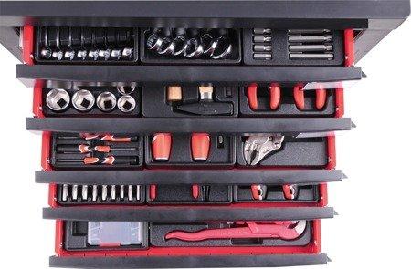 DOSTAWA GRATIS! 65669928 Wózek, szafka serwisowa z narzędziami, 7 szuflad, 189 narzędzia (wymiary: 95,8x76,6x46,5 cm)