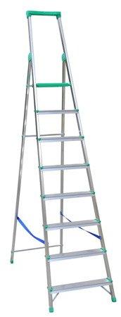 DOSTAWA GRATIS! 99674663 Drabina wolnostojąca Drabex 4 stopniowa z półką i haczykiem (wysokość robocza: 2,84m)