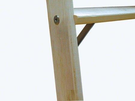 Drabina drewniana dwustronna Krause ze stopniami 2x10 (wysokość robocza: 3,75m) 99674700