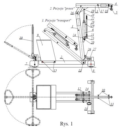 HYDIA Żuraw hydrauliczny ręczny z przeciwwagą (udźwig: od 150 do 550kg) 617007835