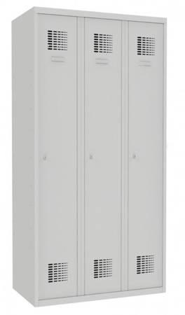 Metalowa szafa ubraniowa (wymiary: 1800x900x500 mm, kolor: popielaty) 09276674