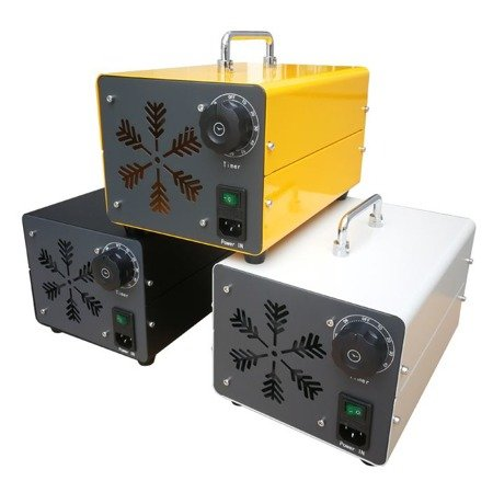 Ozontech Generator ozonu, ozonator (wydajność: 60g/h, moc: 120W 230 V) + Generator ozonu, ozonator (wydajność: 5000 mg/h, moc: 65 W) 300 mᶾ - 100 min 127+45676558