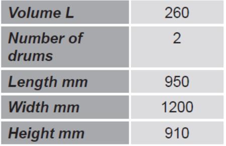 Paleta do transportu beczek z barierkami bezpieczeństwa GermanTech (ilość beczek: 2, wymiary: 950x1200x910 mm) 99724717