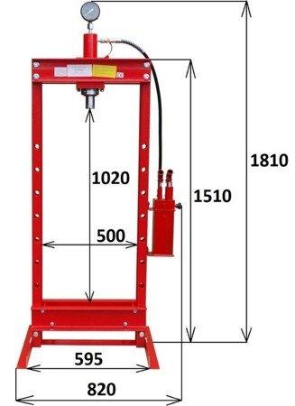 Prasa hydrauliczna, podwójny napęd (nacisk: 20 T) 14576429