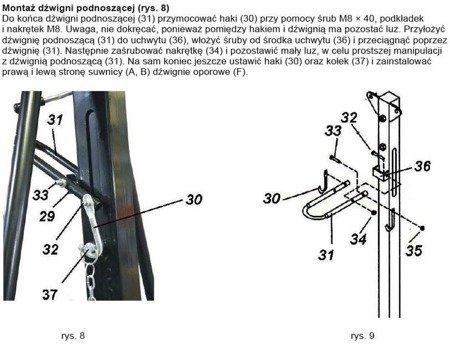 Retor 71884 Suwnica bramowa, wózek, wciągnik łań (udźwig: 1000 kg, szer. : 2300 mm, wys. podn: 2500-3600 mm, wys. podn. wciągarki: 3m)