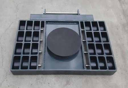 Stalmechon Wózek skrętny do transportu maszyn, urządzeń i sprzętu (rolki: 32x poliamid, nośność: 34 ton) 50276388