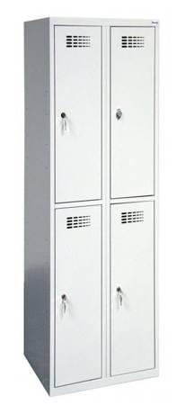 Szafer Szafa szafka metalowa socjalna ubraniowa 4 komory (wymiary: 1800x600x500 mm) 15076459