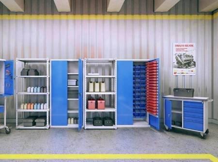 Szafer Szafa warsztatowa z półkami (wymiary: 1990x1000x435 mm) 15076467