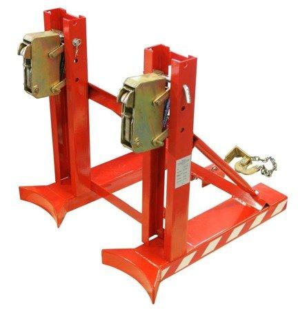 Uchwyt do beczek podwójny na wózek widłowy GermanTech (udźwig: 760 kg) 99724858