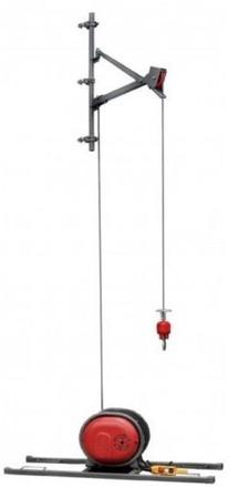 Wciągarka budowlana, linowa elektryczna + lina 30m + sterowanie ręczne 1,5m (udźwig: 500 kg) 08115160