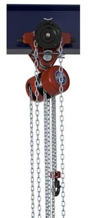 Wciągnik łańcuchowy przejezdny (wysokość podnoszenia: 3m, szerokość belki: 58-226 mm, udźwig: 1 T) 22077026