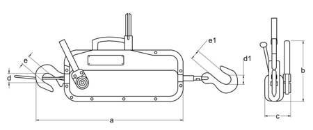 Wciągnik linowy z liną 20m (udźwig: 1,6 T) 22076818